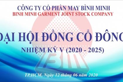 ĐẠI HỘI ĐỒNG CỔ ĐÔNG NHIỆM KỲ V (2020-2025)
